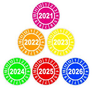 Jahresplaketten Prüfplaketten Wartung 2021 2022 2023 2024 2025 2026 BGV D27