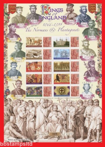 2008 Kings of England Normans and plantagenets Smiler Sheet.