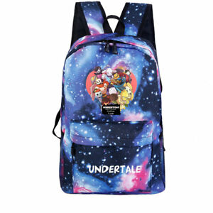 Image is loading Anime-Undertale-Sans-nylon-waterproof-Backpack-School-Bags- 5ac34fd9e2fb9