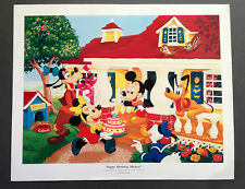Vintage 1989 HAPPY BIRTHDAY MICKEY Gaines Pet Food LIMITED EDITION Poster DISNEY