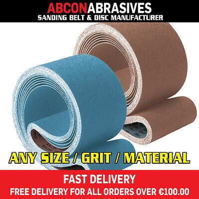 5 x Abrasive Sanding Belts 100x914 100x915mm (P36-P500)  Manufactured in Ireland