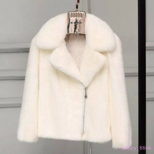 Vinter Furry Thicken Parkas Kvinders varm Muk15 jakke pelsjakke jakke kort ægte xCwgBqI