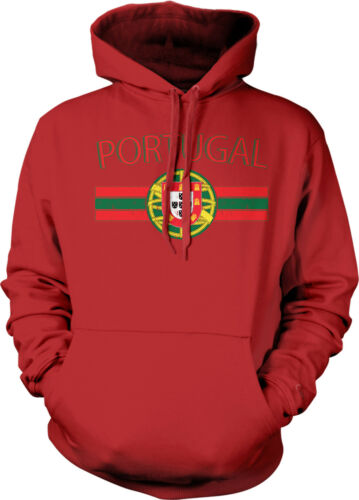 Portugal Europe Country Pride Ronaldo Flag Crest  Mens Sweatshirt