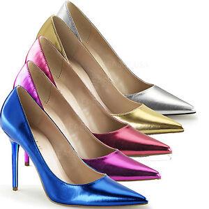 c575ec7ef78c Details zu Classique-20 sexy Pleaser High Heels Pumps gold silber Metallic  Größen 35 - 47
