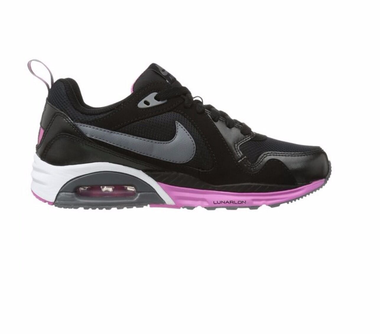 NIKE AIR MAX TRAX GIRLS LADIES SIZE4 4.5 5 5.5 Noir RUNNING TRAINERS SHOES