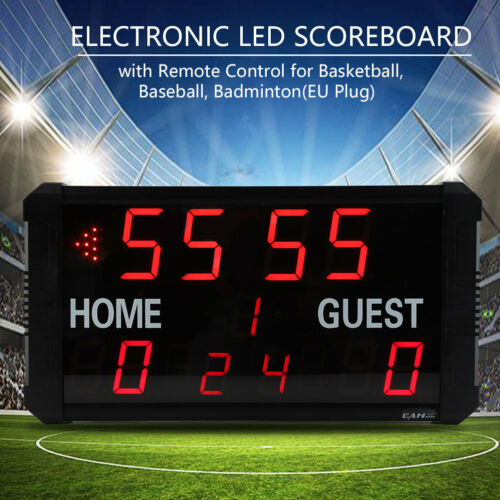 Electric LED table of results Display Board Game Stand Display Counts Blackboard Countdown EU