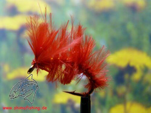"Nymphe /"" Marabou Midge Red /"" 3er Set"