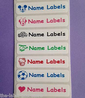 10 Pares Stick en calzado para niños identidad nombre Etiquetas Calcomanías Etiquetas 45 Mm X 12 Mm