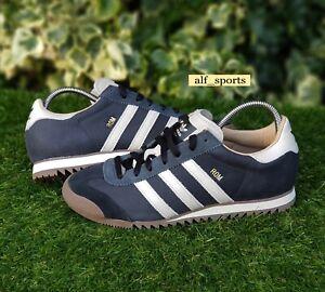 Détails sur ❤ BNWB & AUTHENTIQUE Adidas Originals ® Rom en cuir carbone Baskets Rétro Taille UK 6 afficher le titre d'origine