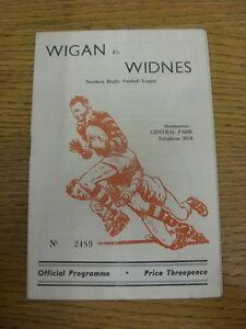 19081959 Rugby League Programme Wigan v Widnes  rusty staple light fold I - Birmingham, United Kingdom - 19081959 Rugby League Programme Wigan v Widnes  rusty staple light fold I - Birmingham, United Kingdom
