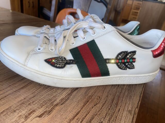 Gucci Ace Leather Sneaker 8 UK White