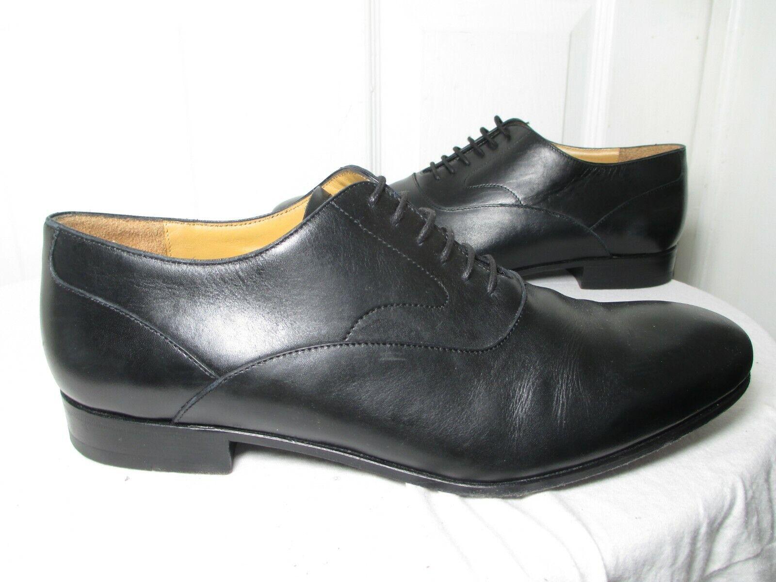 VALENTINO GARAVANI MEN'S nero LEATHER CLASSIC OXFORD scarpe 44 US 11  1045