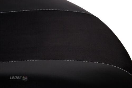 Audi 80 2x Front imitación cuero funda del asiento fundas para asientos negro