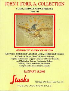 John J Ford Jr Collection Stack S Auction Catalog 7 U S Canada Uk Medals Ebay