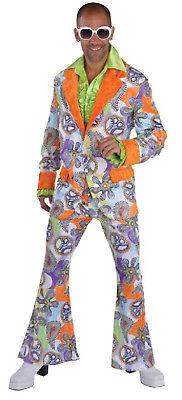 Disco 70er 80er Jahre Anzug Kostüm Flowerpower Herren Hippie Party Hippy Disco | eBay