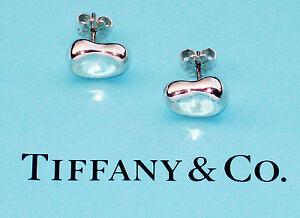 793e3a559 Tiffany & Co Elsa Peretti Sterling Silver Large Bean Stud Earrings ...