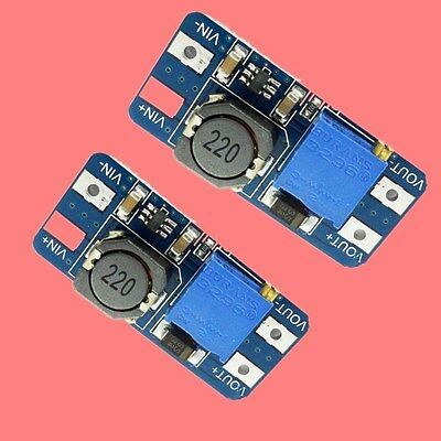 2x MT3608 2V-24V DC-DC Step Up Power Supply Module Booster Spannungsregler