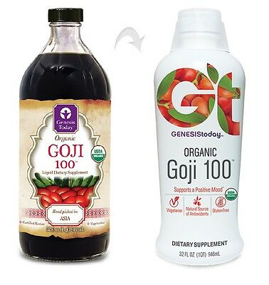 32oz Genesis Today Organic Goji 100 Pure Juice Mood Berry