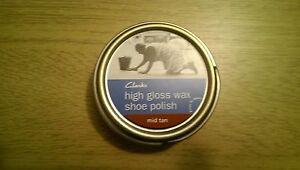 50 ml Lata De Cera De Alto Brillo Clarks Zapato polaco-Mid Tan
