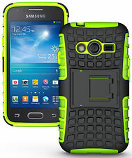 NEON LIME GREEN GRENADE GRIP SKIN HARD CASE COVER STAND FOR SAMSUNG GALAXY ACE-4