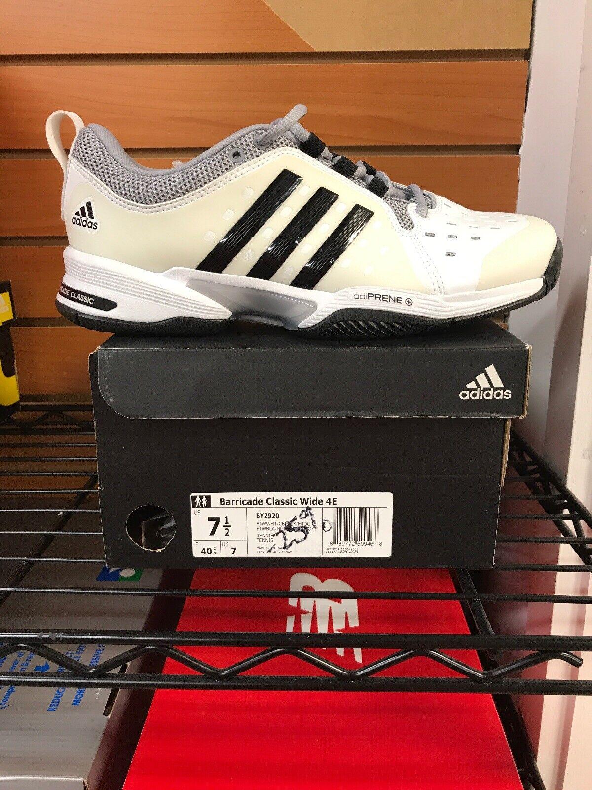 Adidas Barricade Classic Wide 4e Size Mens 7.5