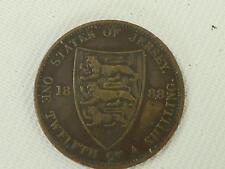 (ref165DA xiv) 1888 Jersey 1/20th Shilling Coin