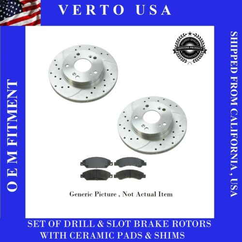 Slot /& Ceramic Pads For Ford Mustang  1994 to 2004 Rear Brake Rotors Drill