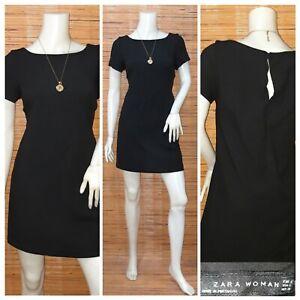 ZARA-WOMAN-SHIFT-DRESS-S