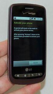 lg vortex vs660v verizon wireless cell phone violet android rh ebay com Verizon Wireless LG Revere Manual Verizon Wireless LG Revere Manual