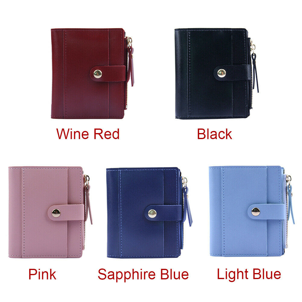 Frames Lovely Holder Candy Color Organizer PU Leather Coin Purse Women Wallet