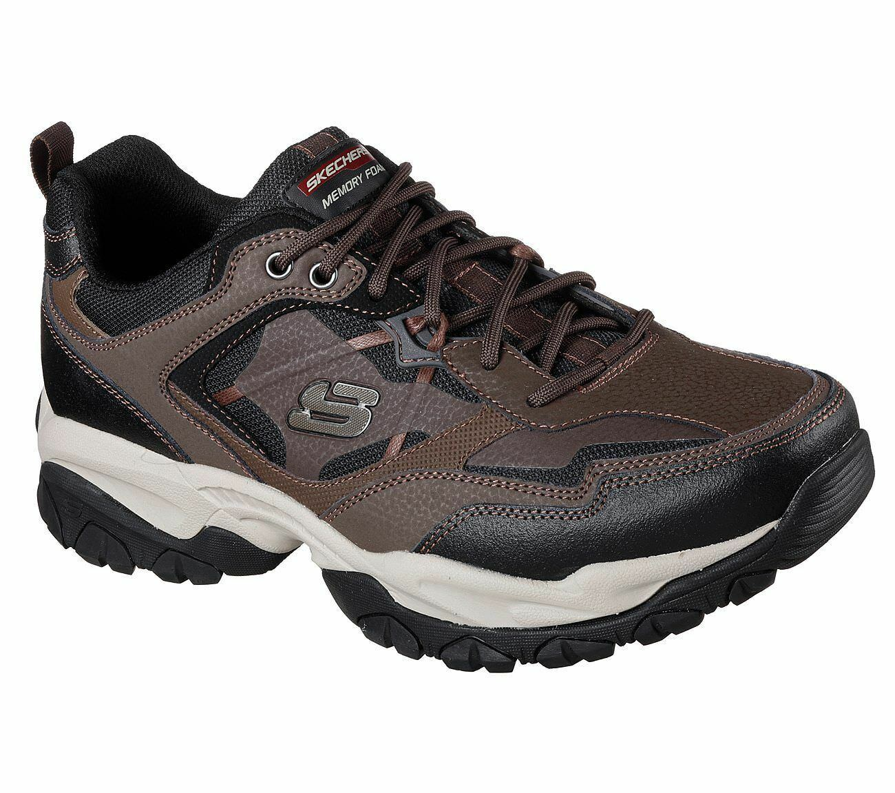 52700 BRBK Brown Fit Skechers Shoes Men Memory Foam Sporty Train Comfort Sneaker