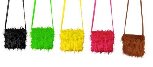 Plüschtasche Handtasche zum Hippie Kostüm Karneval Fasching Orl