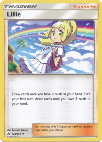 Pokemon 4X Trainer LILLIE 125//156 Uncommon NM CARD Ultra Prism