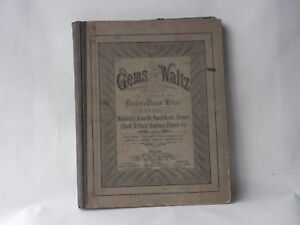Details about Antique Piano Music Book Gems of the Waltz Copyright 1881  Chicago Nice