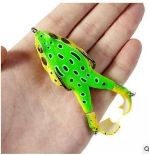 3D Eyes Double Propeller Thunder Frog Soft Bait Lures Topwater 90Mm 13.6G USA