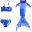 Kids Girl Swimmable Mermaid Tail Bikini Swimwear Sea-maid Swimsuit Swim Costume
