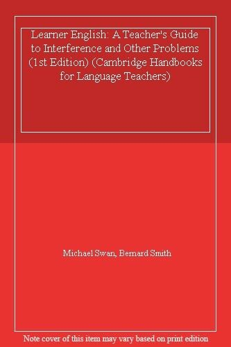 1 of 1 - Learner English: A Teacher's Guide to Interference and Other Problems (1st Edi,