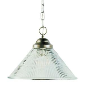 Details About Bel Air Lighting Baldwin 1 Light Brushed Nickel Pendant With Reeded Gl Shade