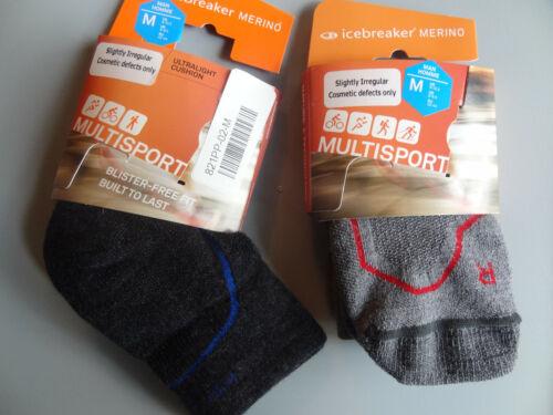 Medium NEW 2 PAIRS Icebreaker Multisport Socks Hike Cycle Run Men/'s M