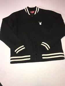 Supreme X Playboy Varsity Jacket Size M Black | EBay