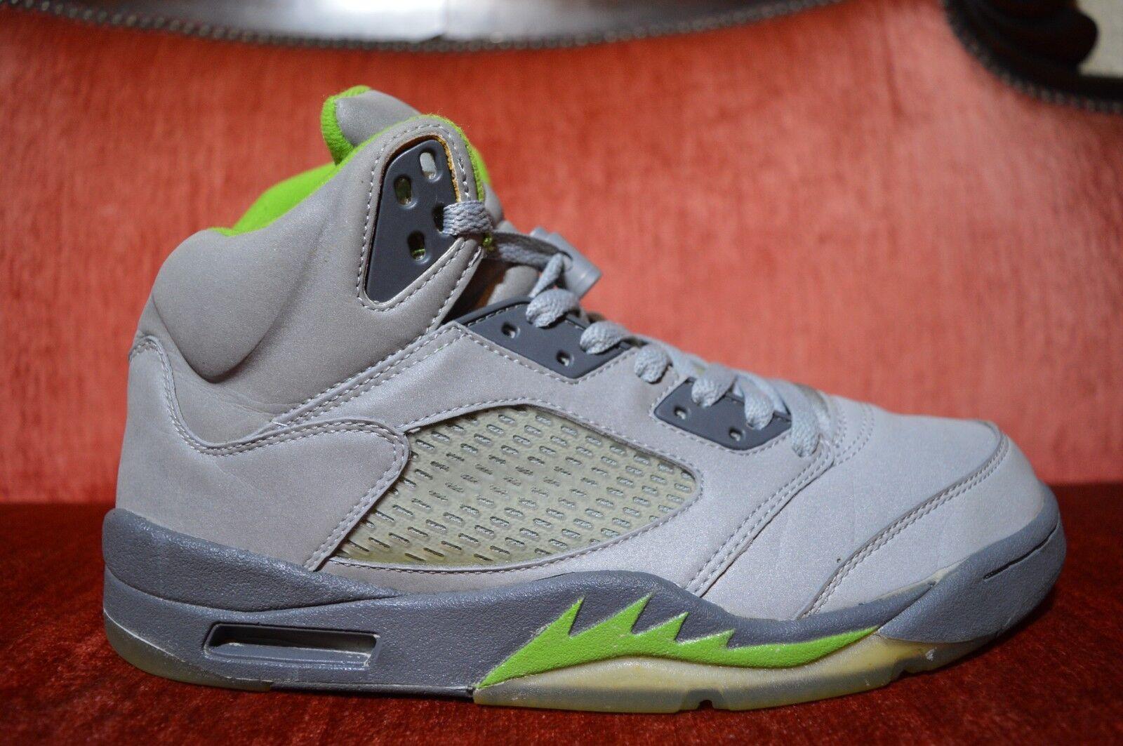 Nike Air Jordan V 5 Retro 2006 Silver Green Bean Size 9.5 136027-031 Quai