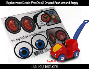 The Toy Restore Replacement Stickers fits Step2 Push Around Buggy Car Decals