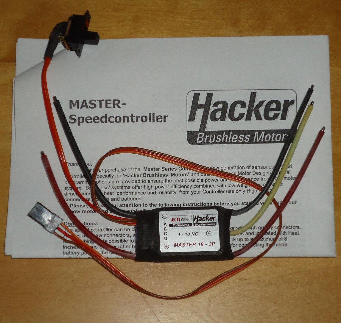 Motores sin escobillas Hacker 18-3P Controlador De Velocidad Master