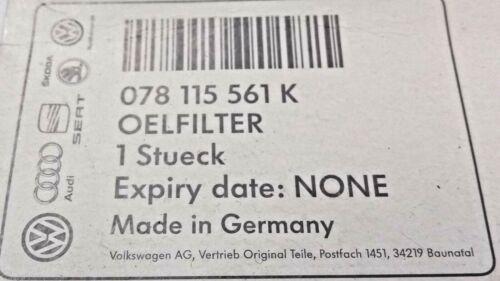 078 115 561 K New Genuine AUDI RS6 C5 4.2 V8 Filtre à Huile