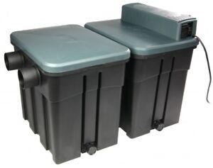 Hozelock Easy Clear 9000 Teichfilter mit UV-C Klärer /& Fontäne Teichpumpe