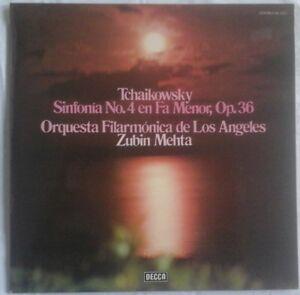 Tchaikovsky - Symphony No. 4, MEHTA, L.A. PHILHARMONIC, DECCA SXL 6323 STEREO