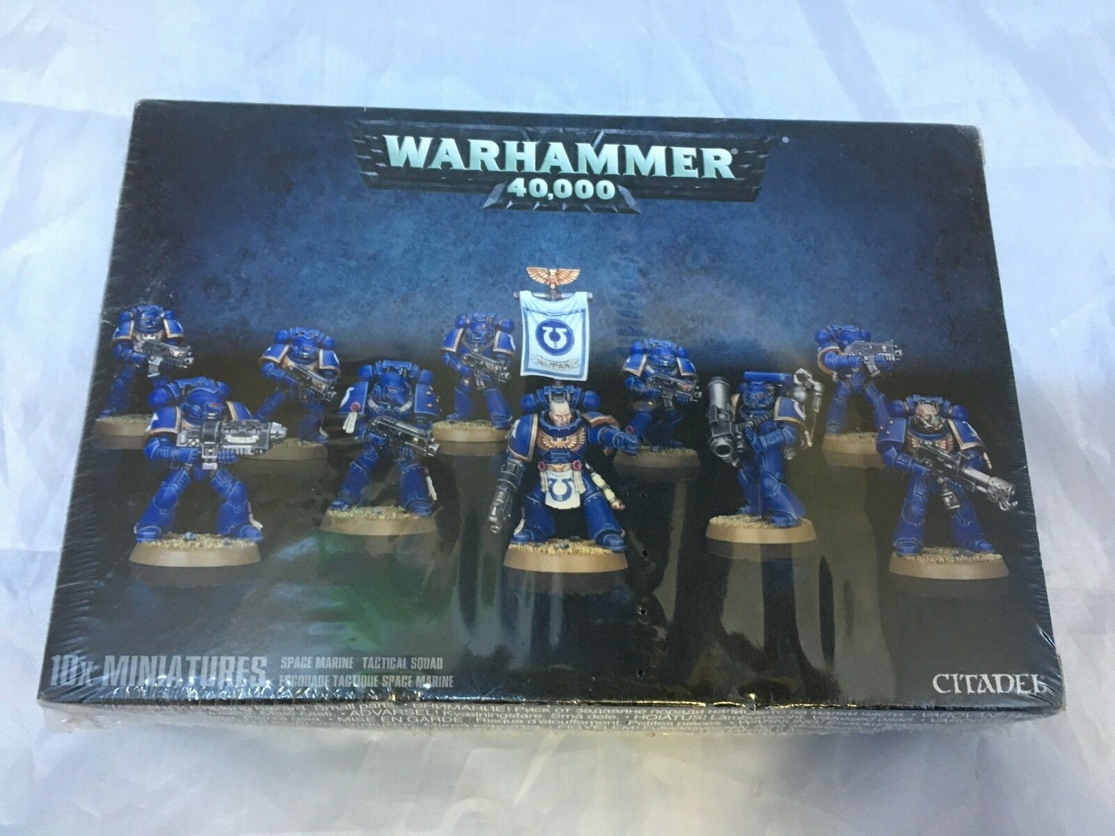 WARHAMMER 40,000 10 x Miniatures Space Marine Tactical Squad CITADEL Brand New