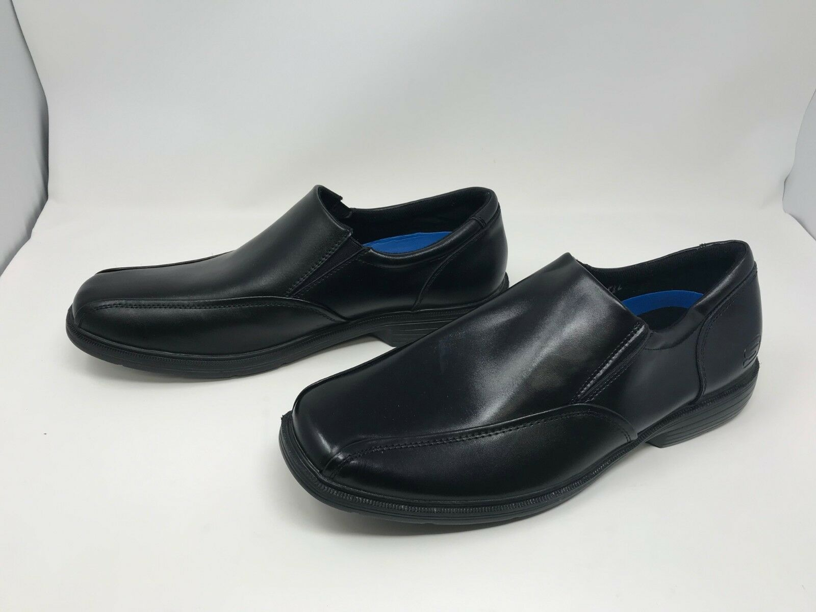 Mens Skechers (64611) RELAXED FIT CASWELL NOREN Black dress shoes (16R)