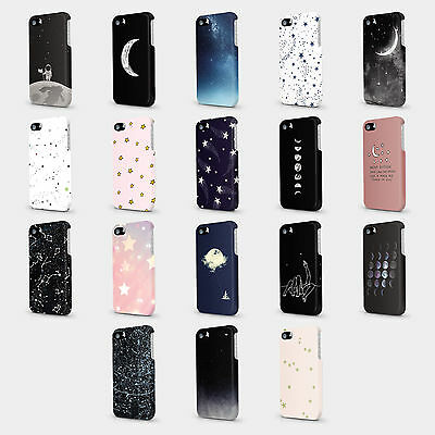 Quotes Star Galaxies Moon Universe Case Hard Cover For HTC