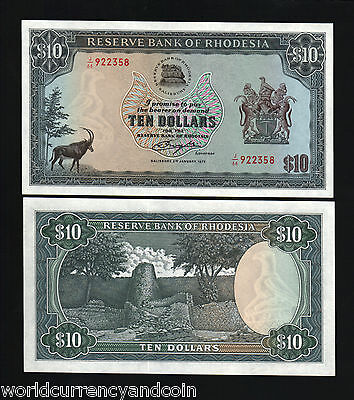 COLOMBIA NOTE $10  1976 UNC